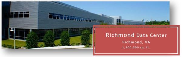 1.3 million square foot data center, Richmond, VA