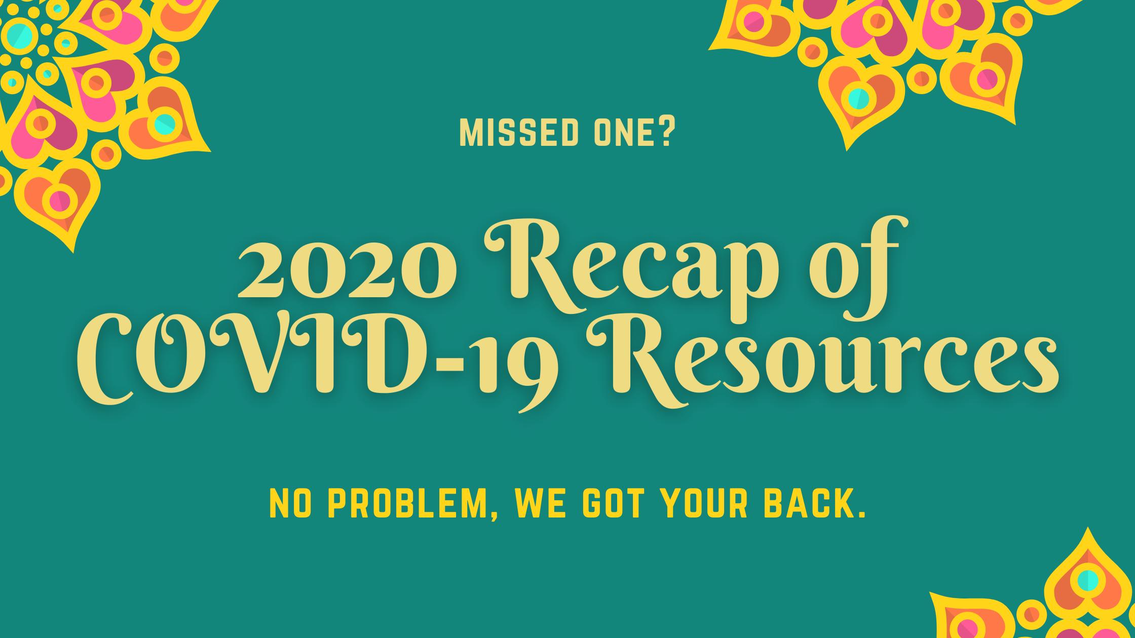 2020-Recap-COVID-19-Tools