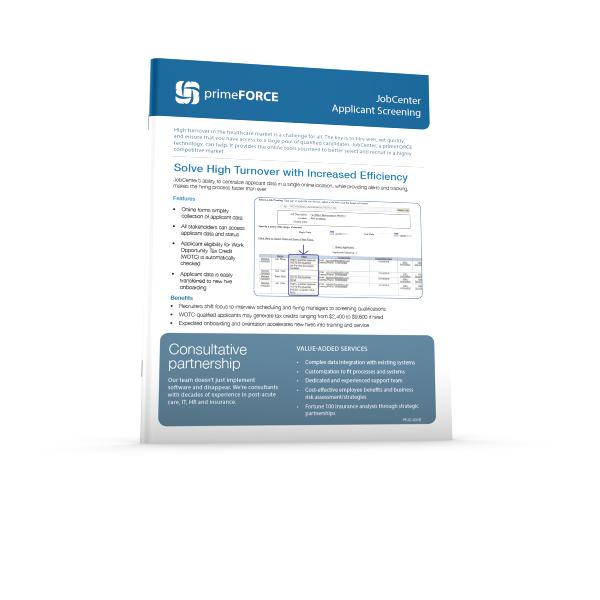 primeFORCE JobCenter E-Sheet