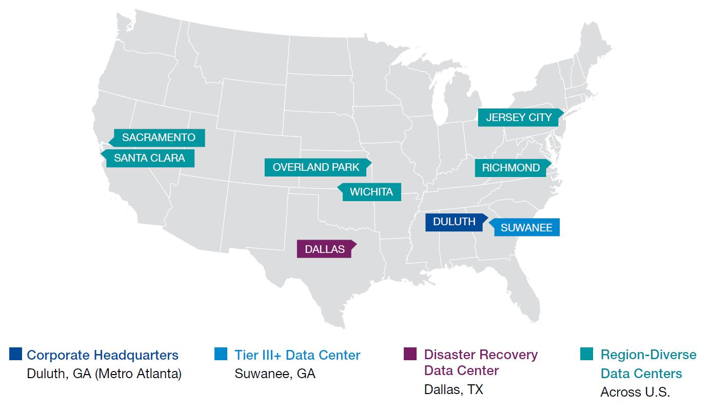 data-center map