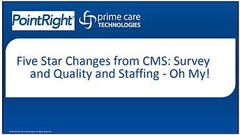 Five Star Changes from CMS
