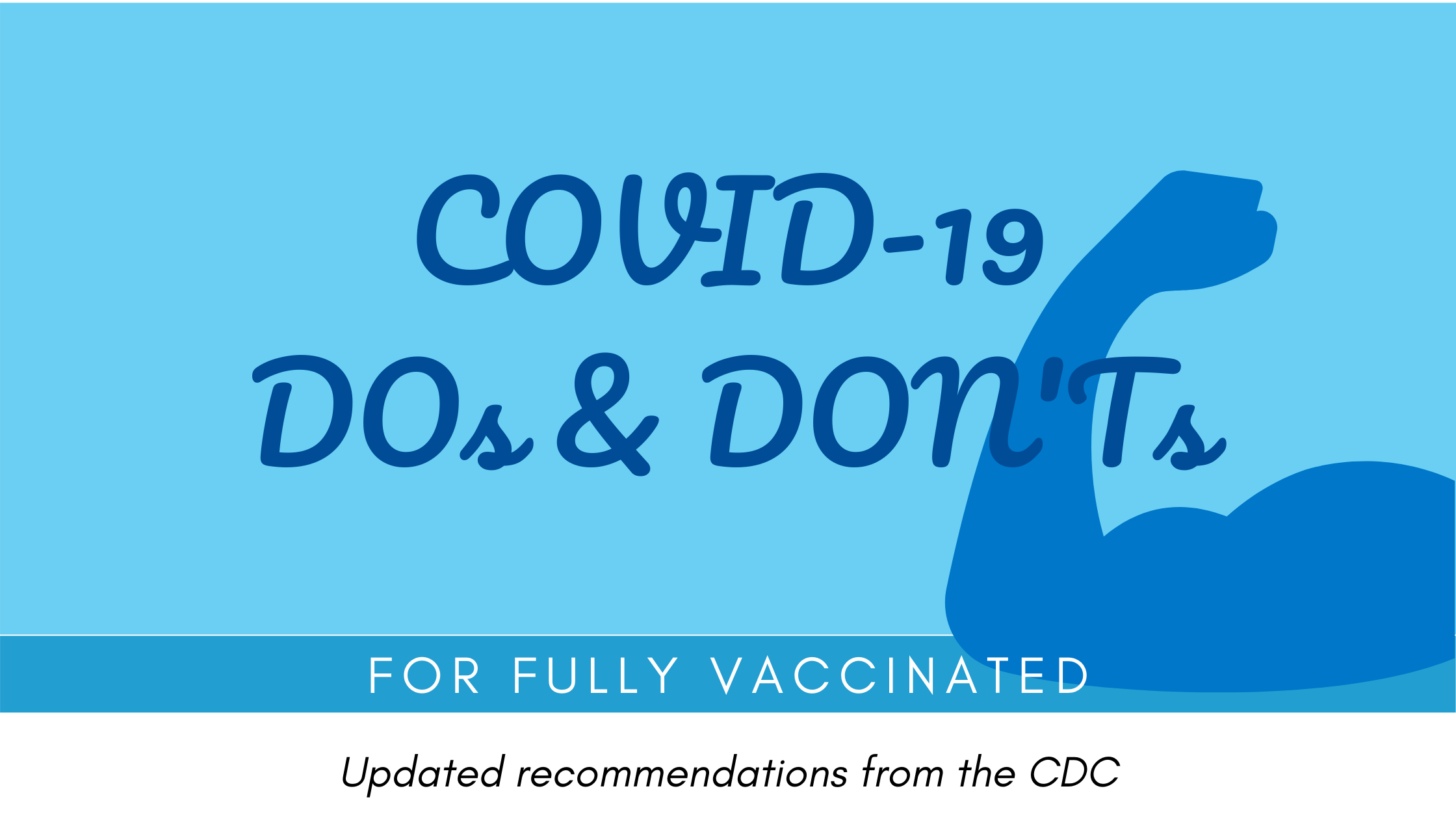 COVID-19 DOs and DON'Ts for Fully Vaccinated per July 28 CDC Update